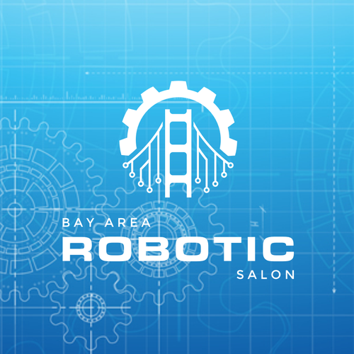 Robotics logo with the title 'Logo design for robotics company'