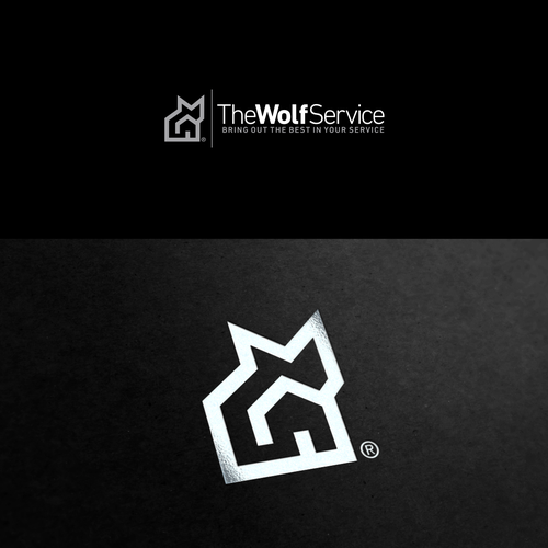 Icon logo with the title 'Wolf Service Logo'