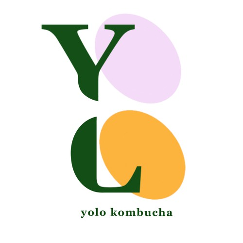 Kombucha logo with the title 'Kombucha Logo'