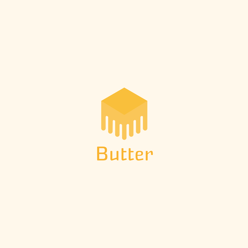 Orange and yellow logo with the title 'melting butter'
