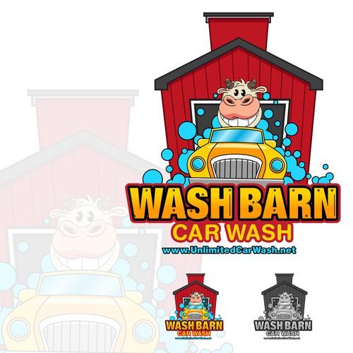 Carwash logo with the title 'Carwash Logo'