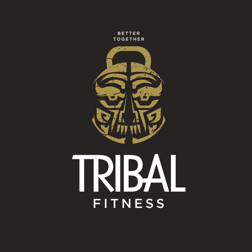 Kettlebell logo with the title 'Gym logo'