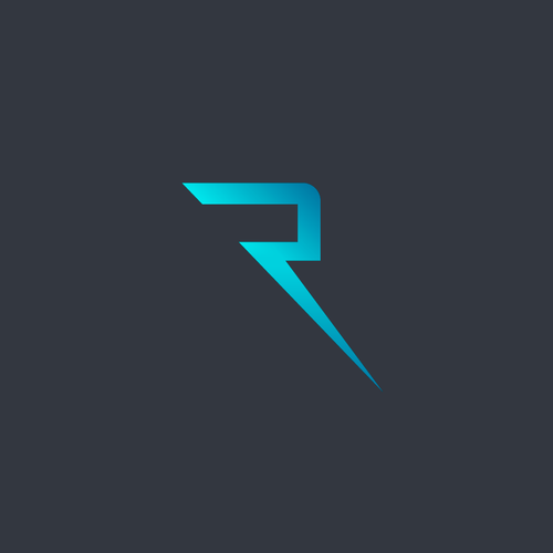 Thunder design with the title 'R logo for sale'