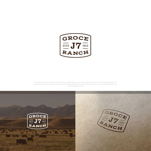 Ranch logo with the title 'Groce J7 Ranch'