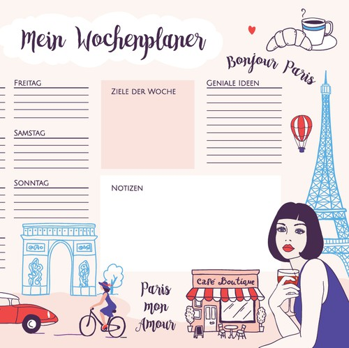 French design with the title 'Paris illustration'