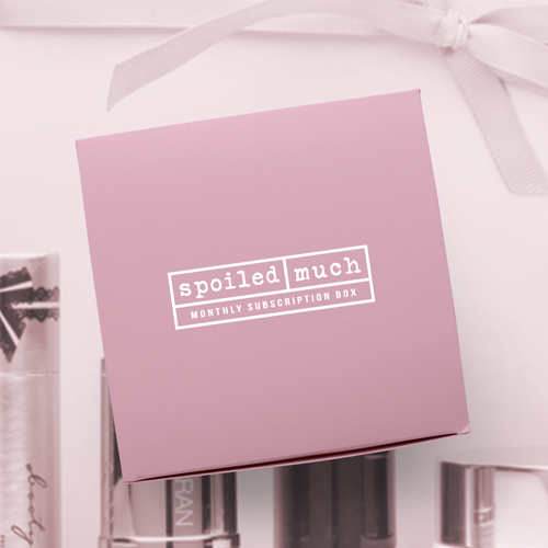 Subscription box design with the title 'spoiled logo '