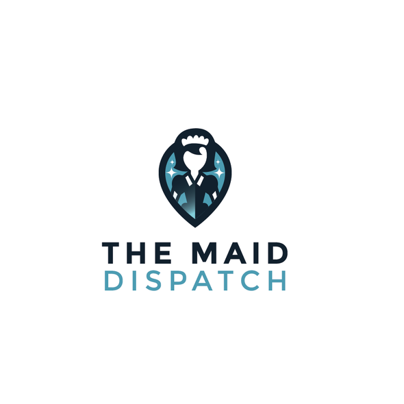 Cleaning company logo with the title 'Maid service '