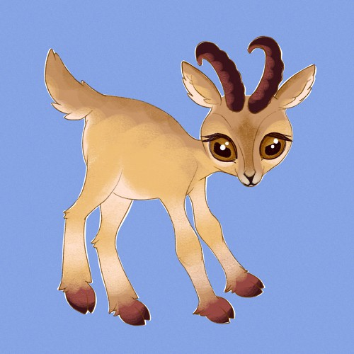 Ibex design with the title 'Baby ibex mascot'