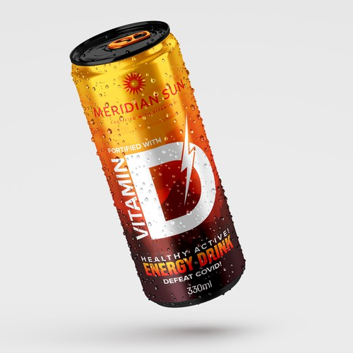 Energy drink design with the title 'Energy Drink'