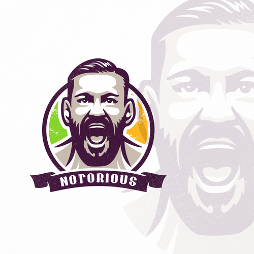 Athlete logo with the title 'Portrait of the UFC fighter'