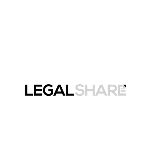 Legal and law firm logo with the title 'LEGAL SHARE'