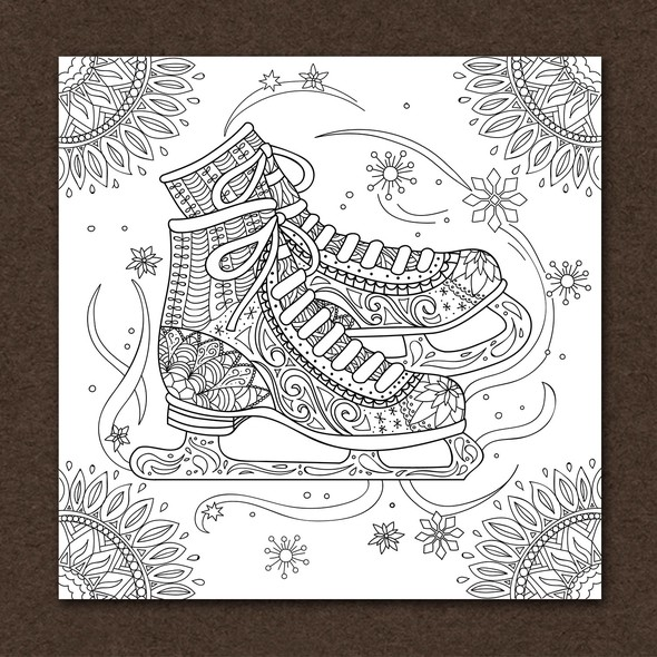 Skating design with the title 'Figure Skating Greeting Card'