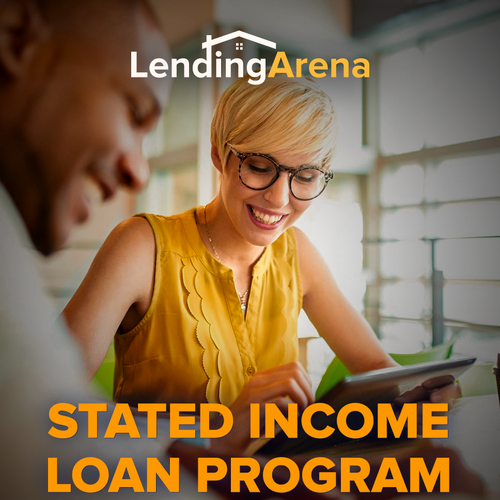 Loan design with the title 'Mobile site for Lending Arena'