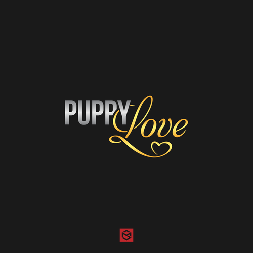 Puppy logo with the title 'Luxurious logo for puppy love'