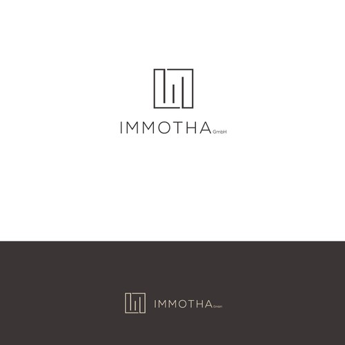 Gray design with the title 'Minimalistic logo for real estate'