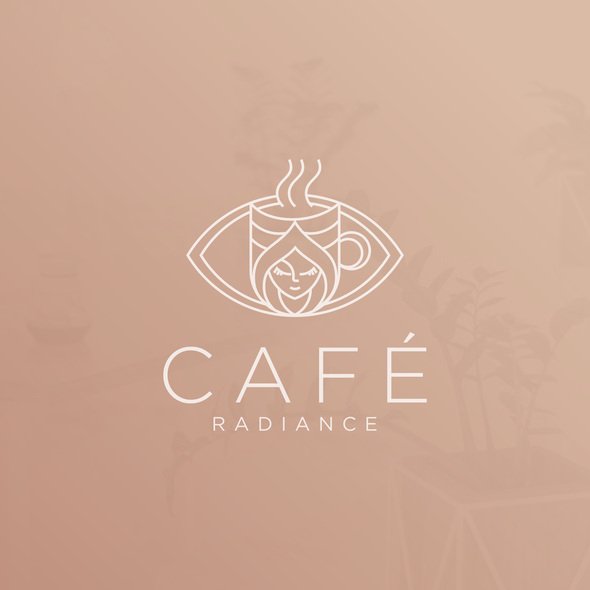 Female logo with the title 'Cafe Radiance'