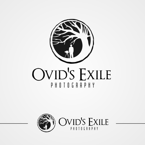 Studio design with the title 'Ovid's Exile Logo'