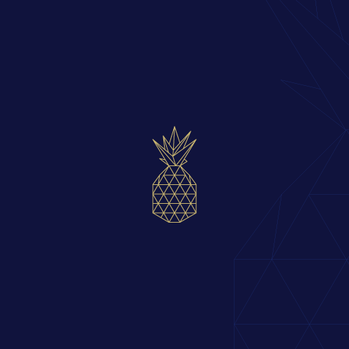 Fruit logo with the title 'Geometric polygonal logo'