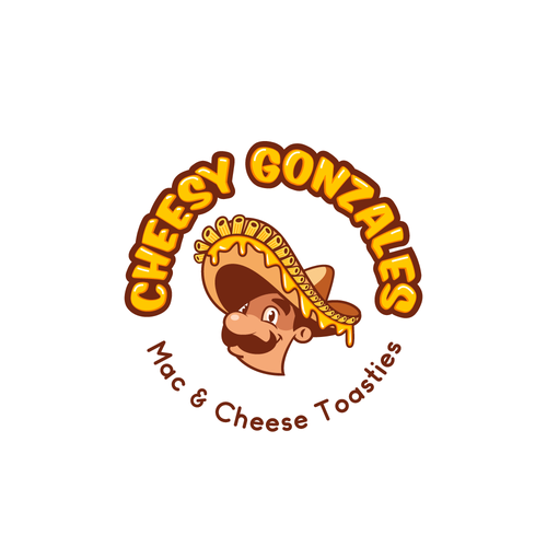 Sandwich design with the title 'Logo for Cheese Toastie Food Truck'
