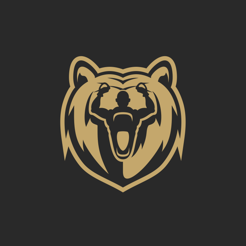Bear mascot logo with the title 'Boxing bear'