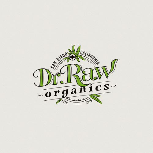Scanning logo with the title 'Organic cannabis products logo'