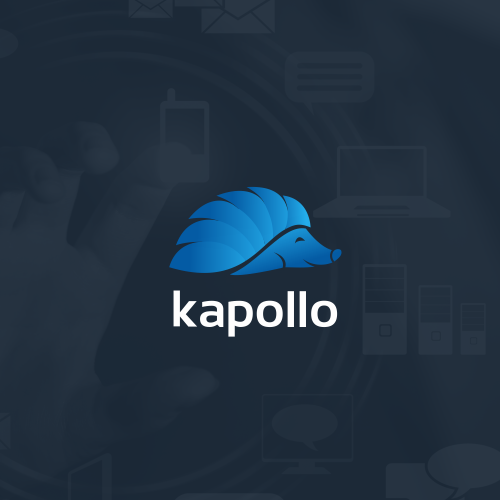 Hedgehog logo with the title 'kapollo'