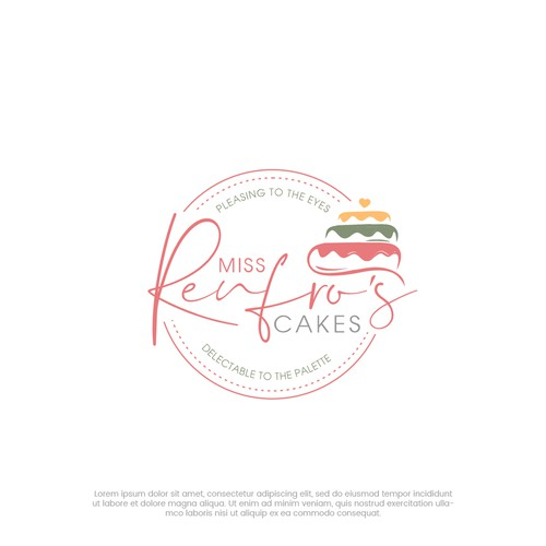 Birthday logo with the title 'Renfros Cakes'