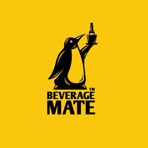 Cool logo with the title 'Bold beverage logo'