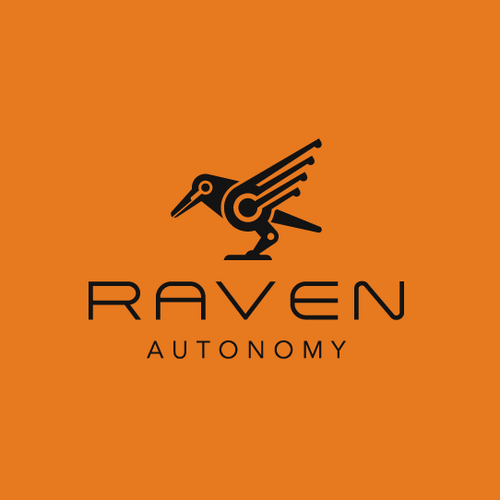 Robot logo with the title 'Raven Logo'