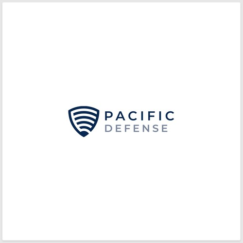 Defense logo with the title 'Logo Design for Pacific Defense'