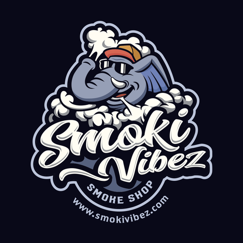 Logo with the title 'Logo design for smoke shop'