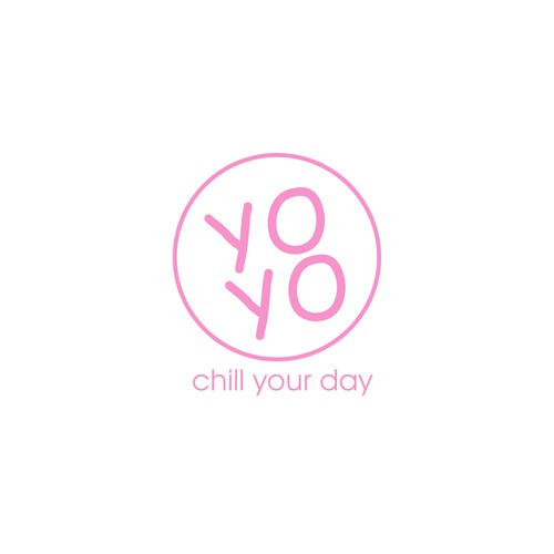 Yogurt logo with the title 'Yoyo Yoghurt'