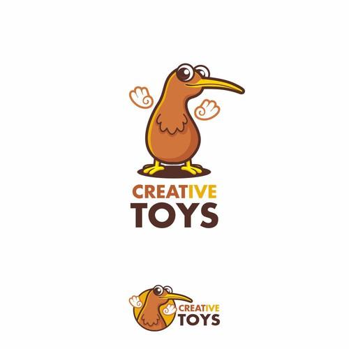 Kiwi design with the title 'creative toys'