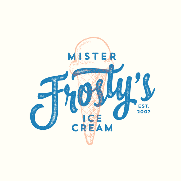 Restaurant design with the title 'Ice Cream Shop rebranding for 10 year anniversary'