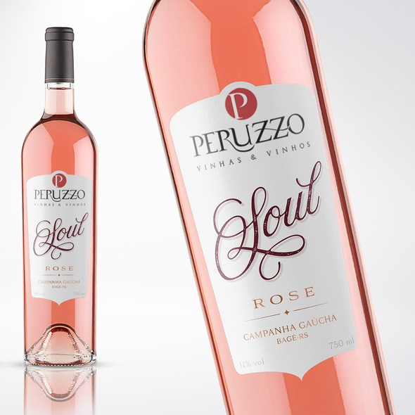 Industrial label with the title 'LABEL FOR THE BEST ROSE WINE FROM BRAZIL'