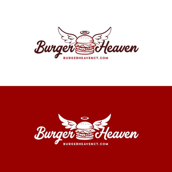 Cook design with the title 'Logo Burguer Heaven'