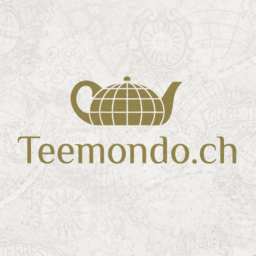 Teapot logo with the title 'Logo for a tea-online-shop in Switzerland'