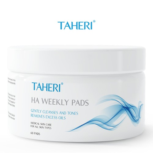 Skin care design with the title ' Skincare Product Label for Taheri products'
