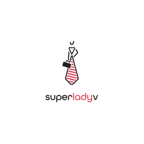 Tie logo with the title 'Super Lady'