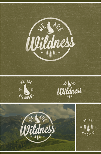 Fir tree logo with the title 'Create the next logo for We Are Wildness'