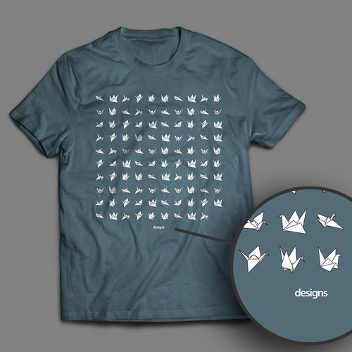 Japanese t-shirt with the title '99 cranes'