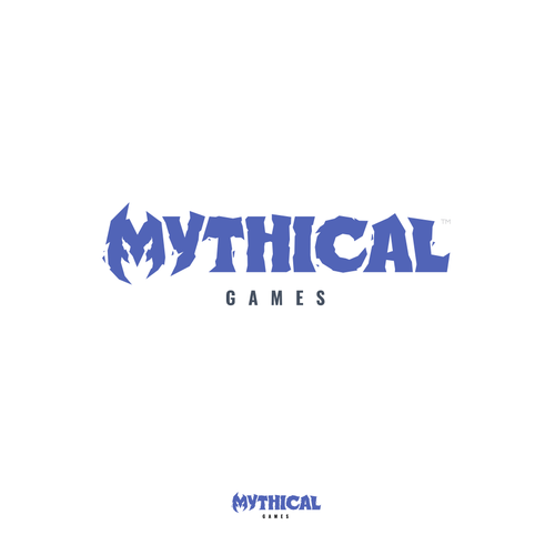 Epic logo with the title 'Mythical Games logo'