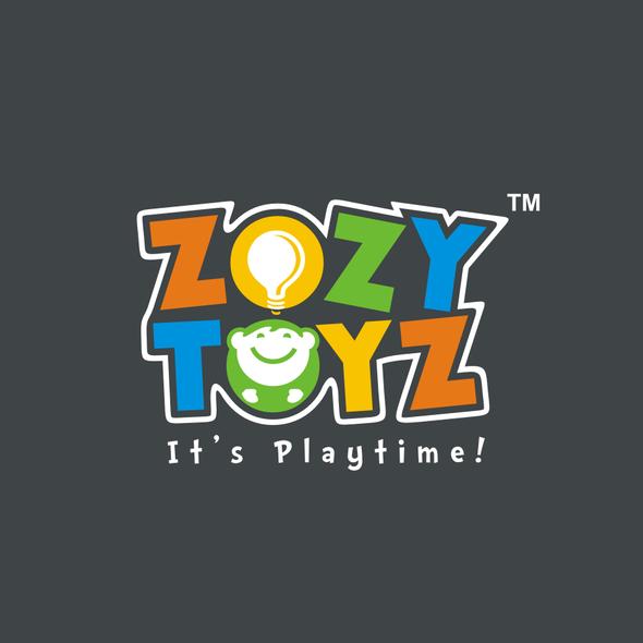Toy shop logo with the title 'ZOZY TOYZ LOGO DESIGN!'