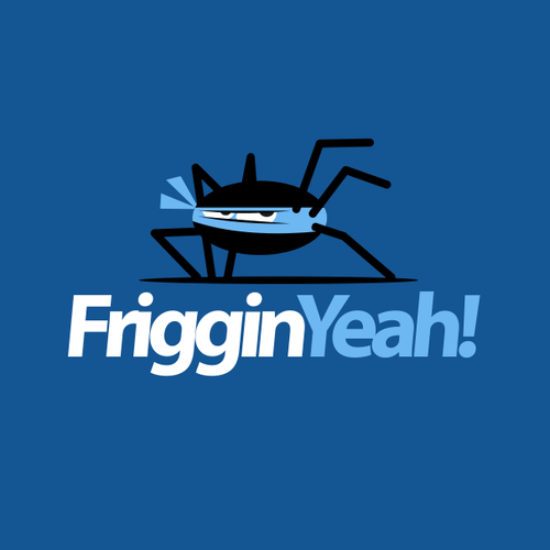 Spider design with the title 'Funny logo for code developers'