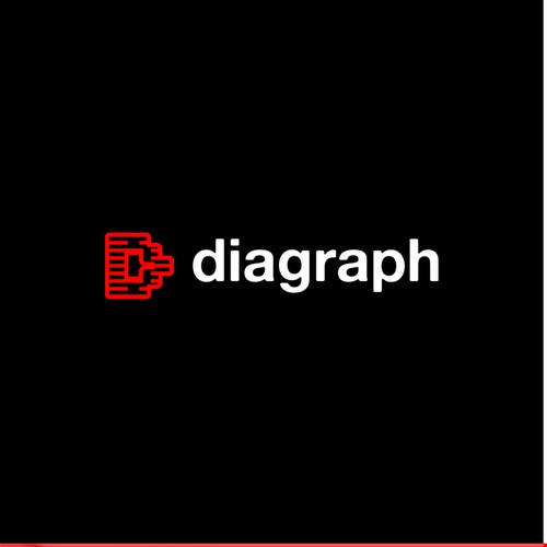 Barcode design with the title 'Diagraph Logo Design'