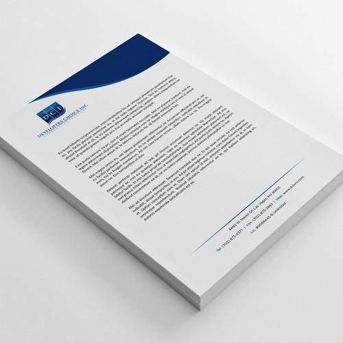 Letterhead design with the title 'Letterhead Design'