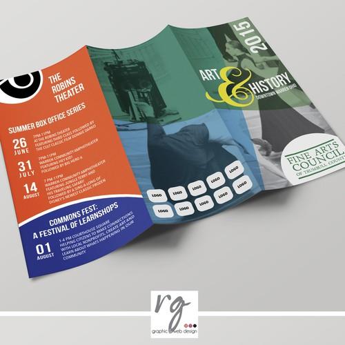 "Program design with the title 'Brochure ""Art & History Festival""'"