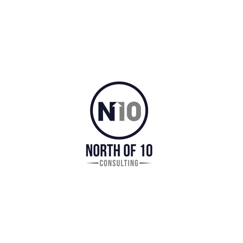 """Direction logo with the title 'Bold logo for """"North of 10"""".'"""