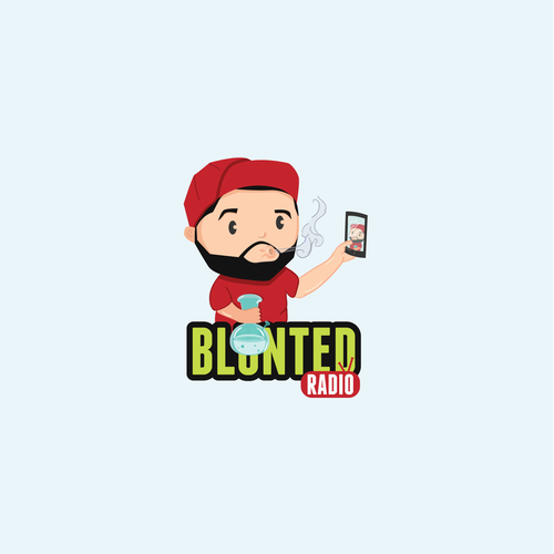 Streaming design with the title 'Blunted Radio'