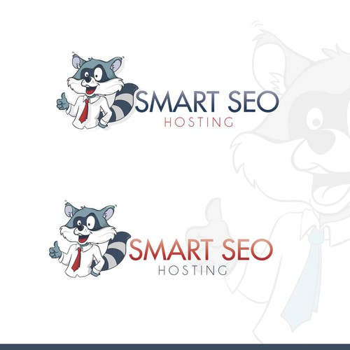 Raccoon design with the title 'Smart Seo Hosting'